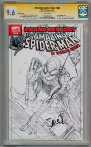 Amazing Spider-man #546 Retail Sketch Variant CGC 9.6 Signature Series Signed Steve McNiven Marvel